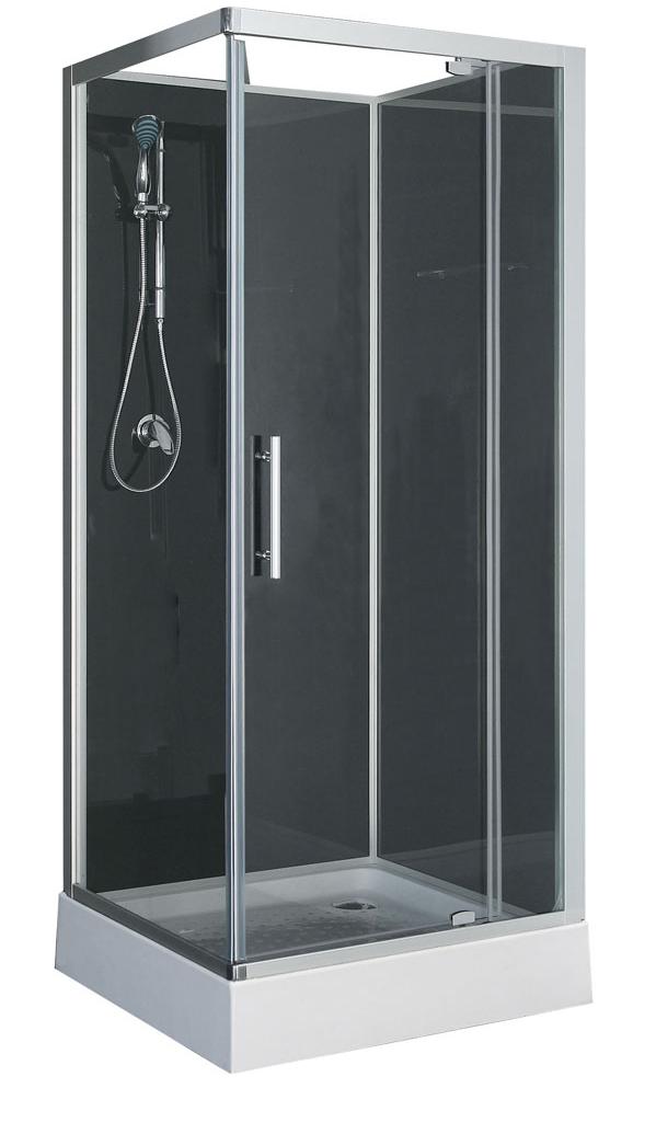 Wiesbaden Domino complete douchecabine 90x90x210 alu mat 5mm glas