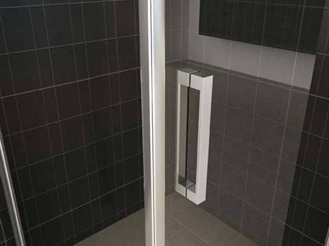 Wiesbaden Wiesbaden Uni douchecabine draaideur met zijwand 90x90 cm chroom met helder glas 8mm NANO