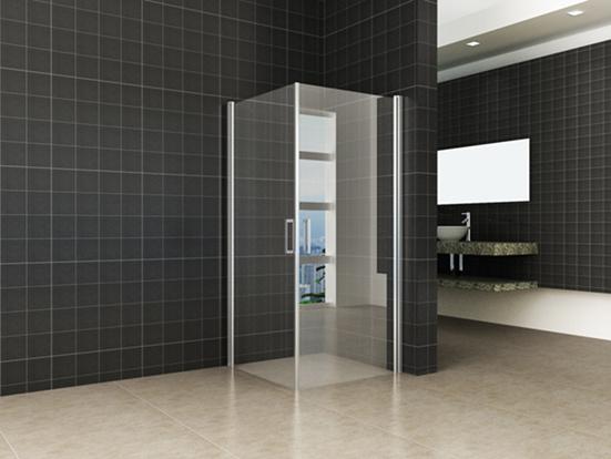 Linea Uno Wiesbaden Uni douchecabine met 2 draaideuren 100x100 cm chroom met helder glas 8mm NANO