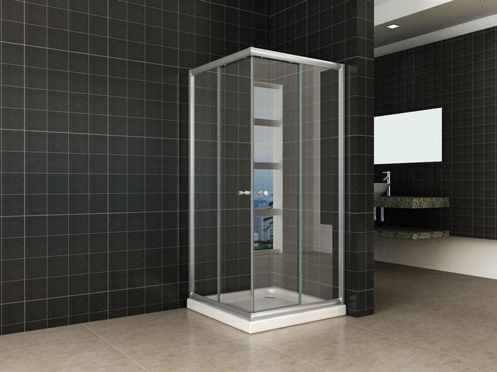 Linea Uno Eco hoekinstap douchecabine 5mm 800x800x1900 helder glas