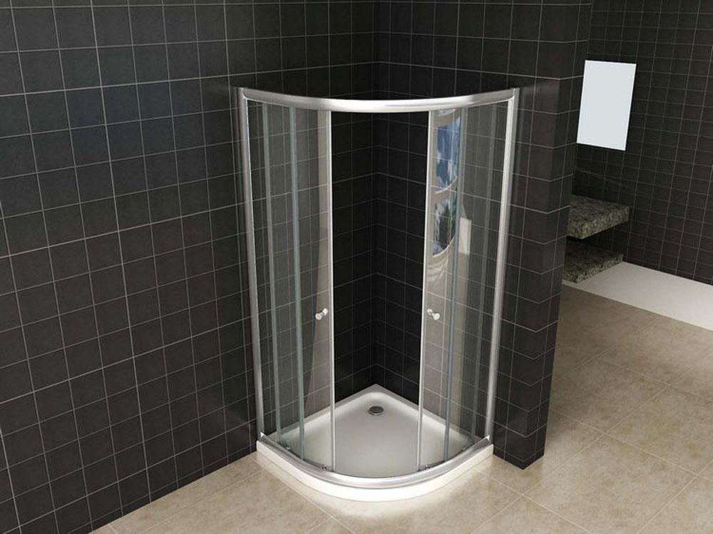 Wiesbaden Eco 1/4 ronde douchecabine 5mm 800x800x1900 helder glas