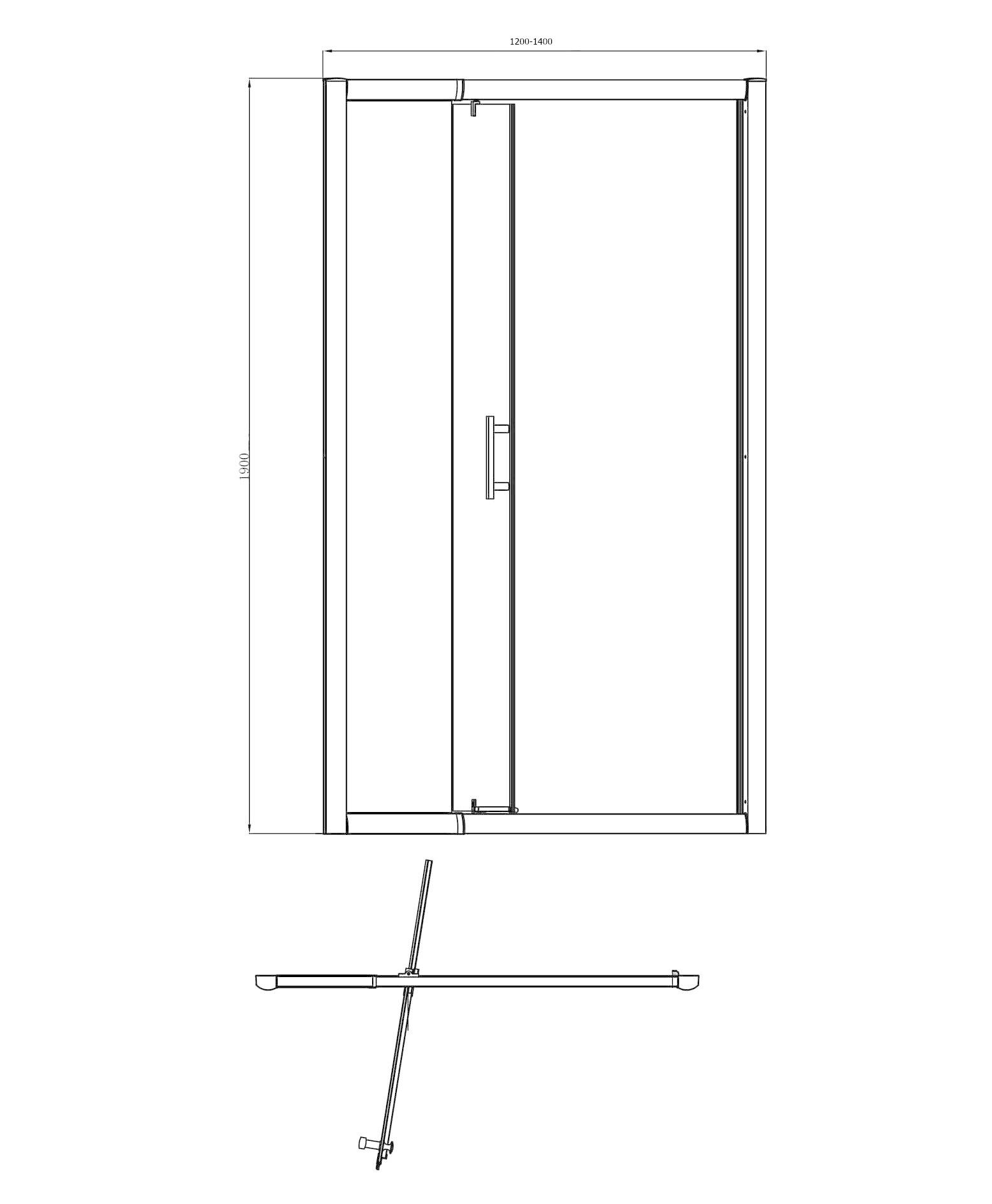 Linea Uno Passe Partout 100 (120-140 h 190 cm) draaideur