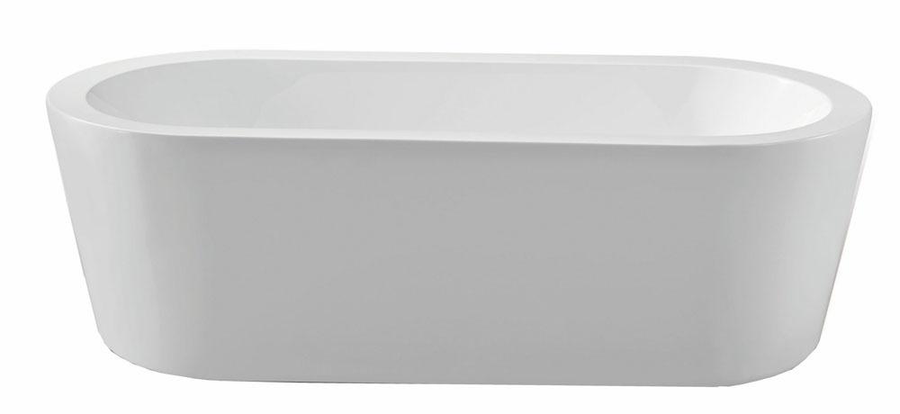 Linea Uno Bianco vrijstaand acryl ligbad 178 x 80 wit