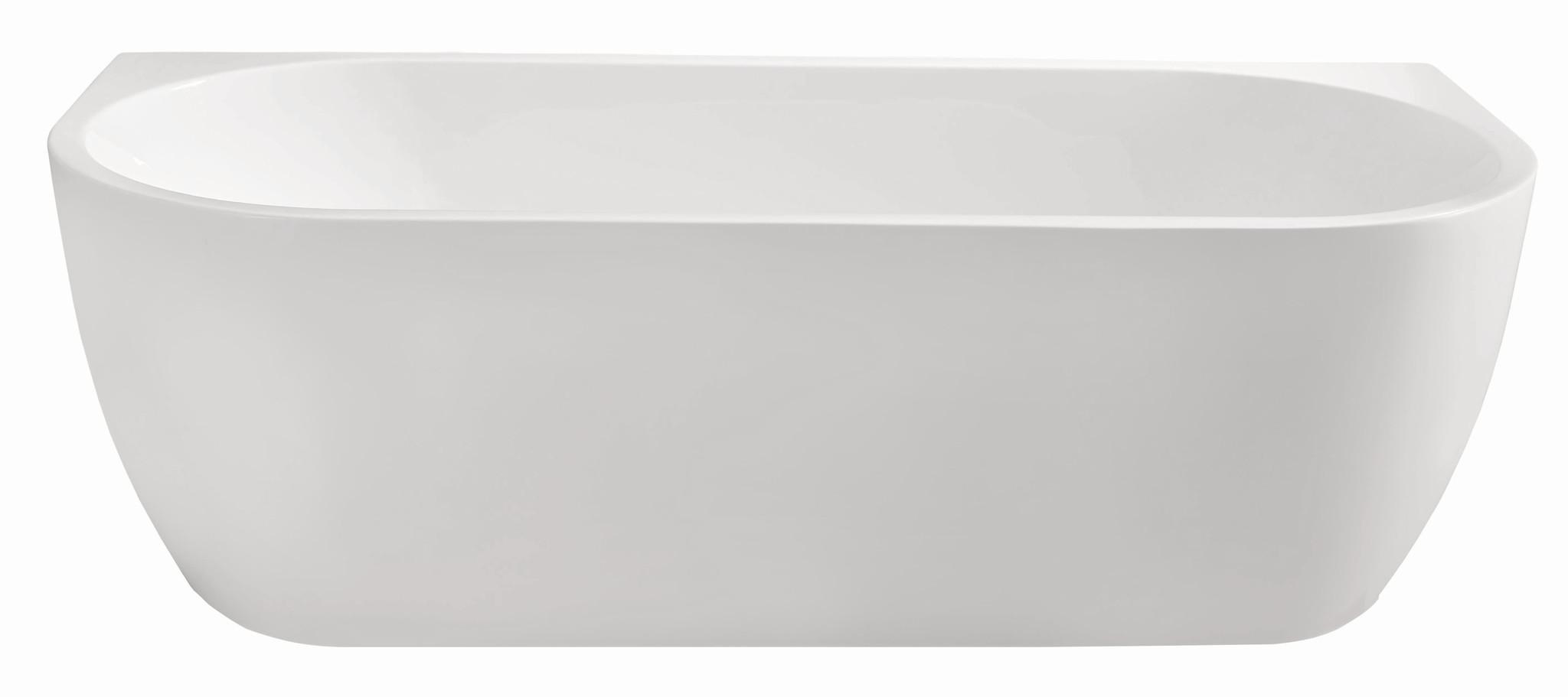 Wiesbaden Wall half-vrijstaand acryl ligbad 170x75 wit
