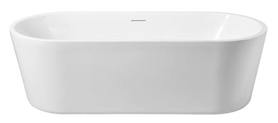 Linea Uno Libero vrijstaand ligbad acryl 178 x 80 x 58,5 cm mat wit