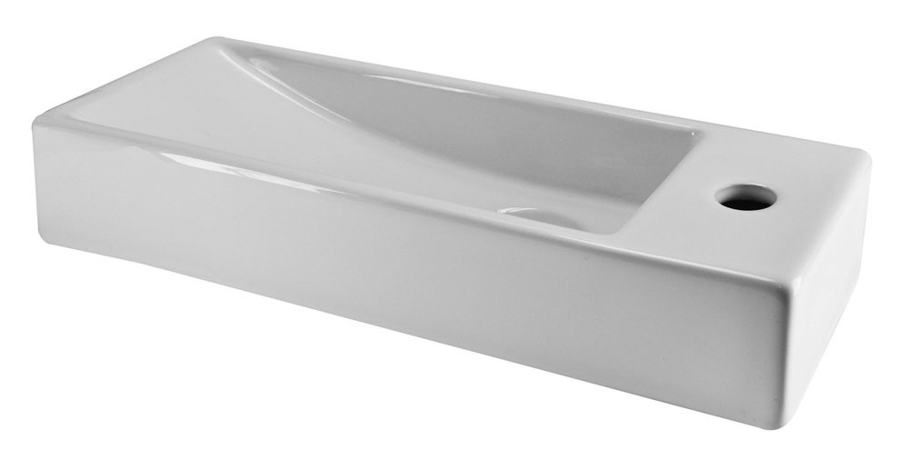 Wiesbaden Trim mini fontein 380x140x80mm rechts wit