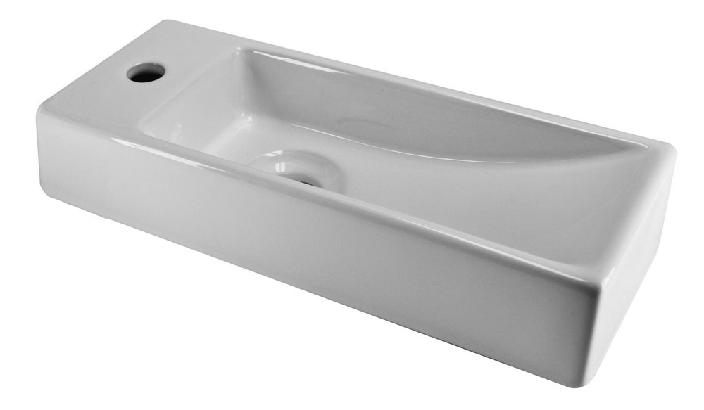Wiesbaden Trim mini fontein 380x140x80mm links wit