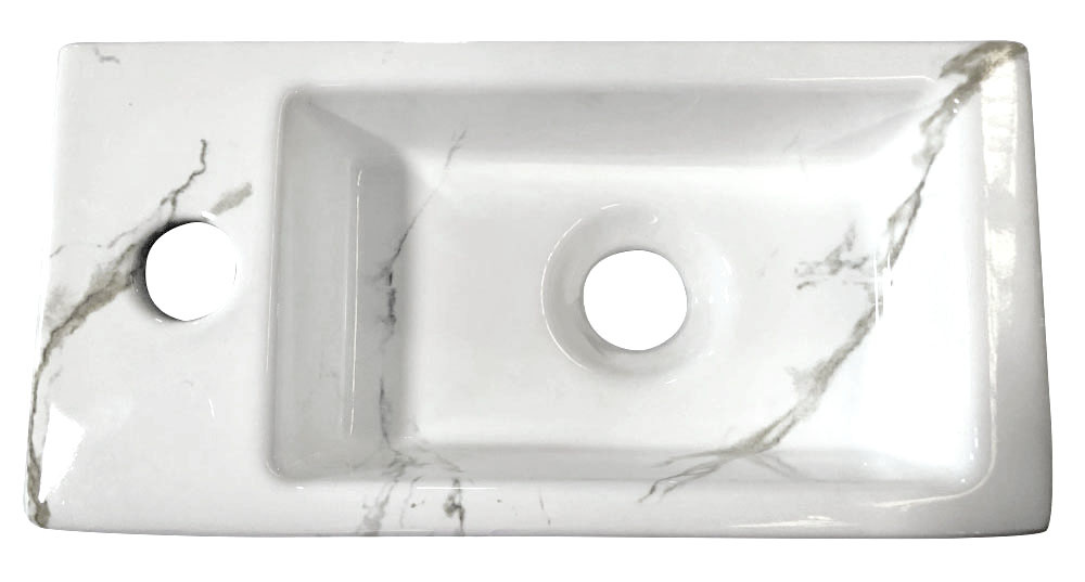 Wiesbaden Mini-Rhea links fontein 360x180x90 Carrara