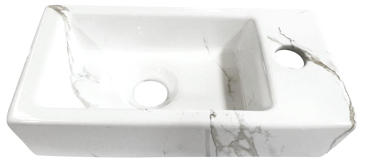 Wiesbaden Mini-Rhea rechts fontein 360x180x90 Carrara