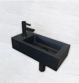 Wiesbaden One Pack Mini-Rhea links fontein 360x180x90 mat-zwart
