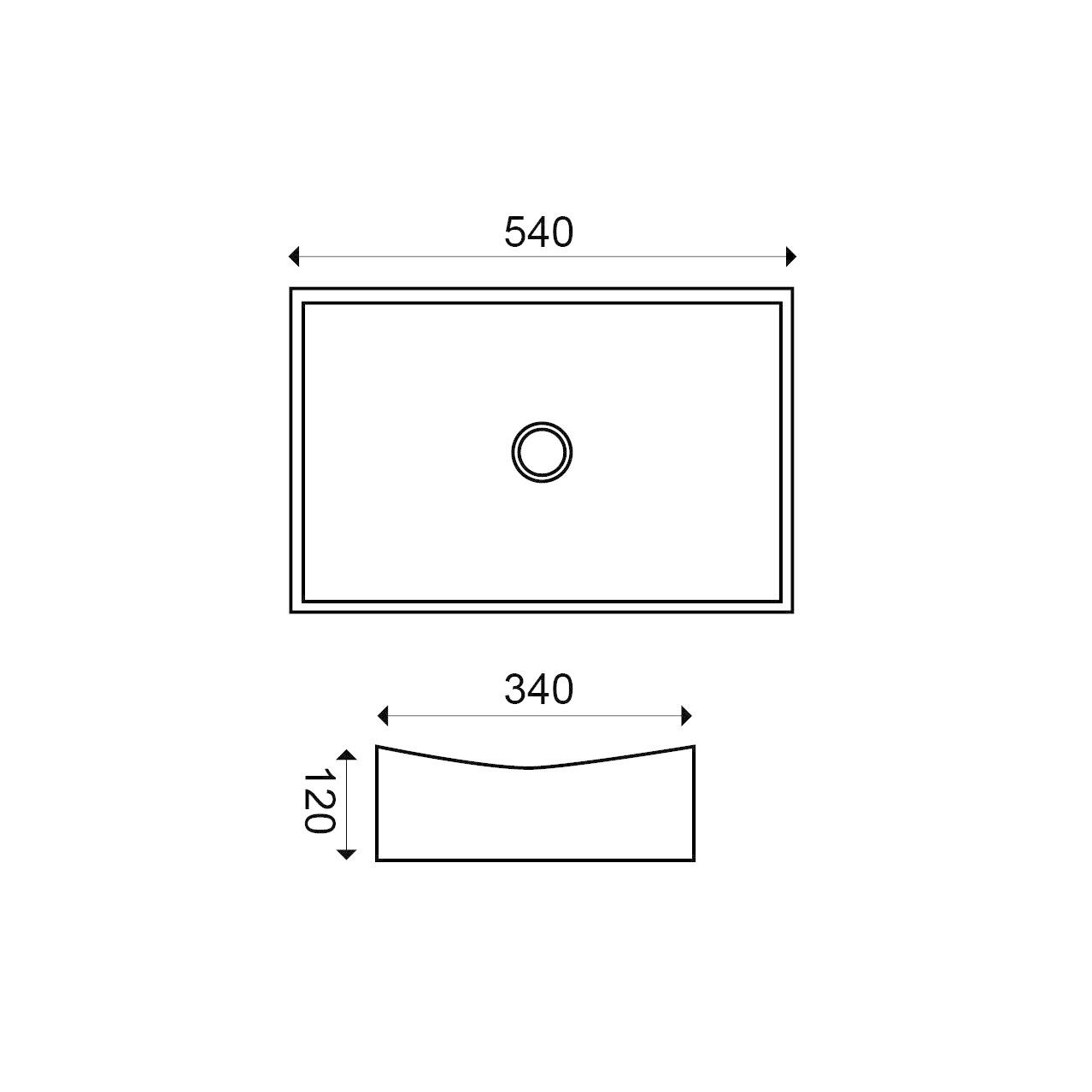 Wiesbaden Slide opzetwastafel 550x350x120mm wit