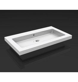 Linea Uno keramische meubelwastafel 60x46 1 kr.gat
