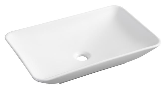 Wiesbaden Karé opzetwastafel 580x360x115mm mat wit