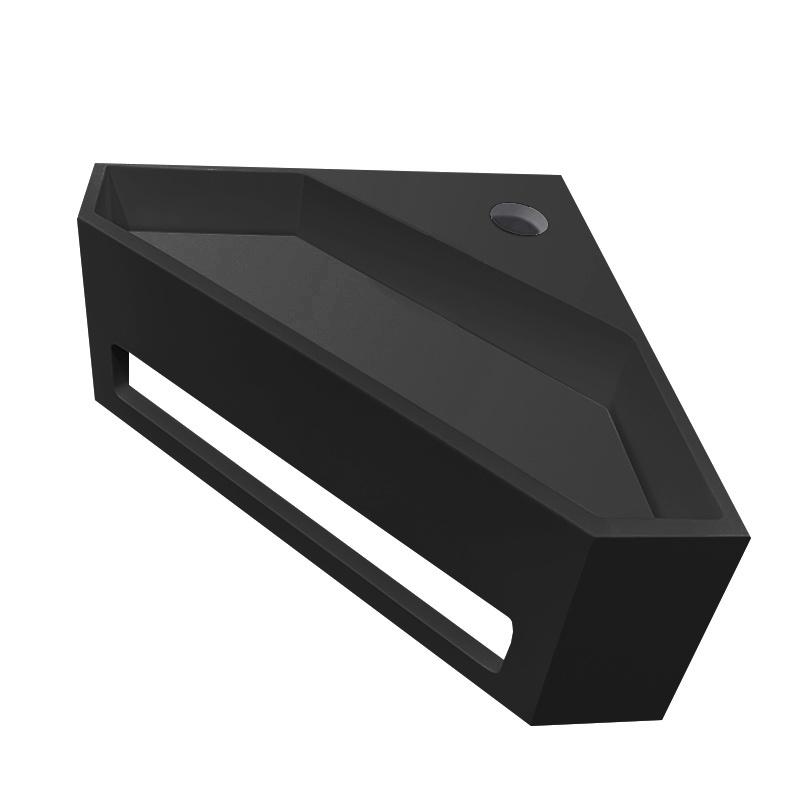 Wiesbaden Wiesbaden Julia hoekfontein solid surface 35 x 35 x 16 cm mat zwart