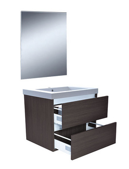 Wiesbaden Vision meubelset (incl. spiegel) 60 cm houtnerf grijs