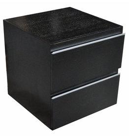 Wiesbaden Ladekast 450x450 houtnerf zwart gelakt