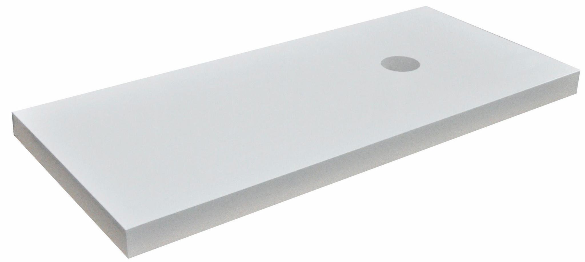 Wiesbaden wastafelblad 100 x 46 x 5,5 cm hoogglans wit gelakt