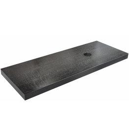 Wiesbaden wastafelblad 120 x 46 x 5,5 cm houtnerf zwart gelakt