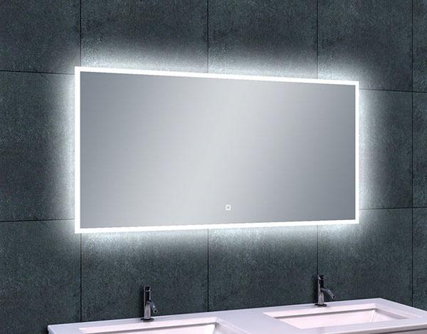 Wiesbaden Quatro-Led dimbare condensvrije spiegel 120 x 60 cm