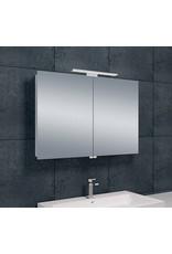 Wiesbaden Luxe spiegelkast +Led verlichting 90x60x14cm