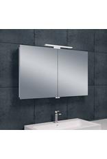 Wiesbaden Luxe spiegelkast +Led verlichting 100x60x14cm