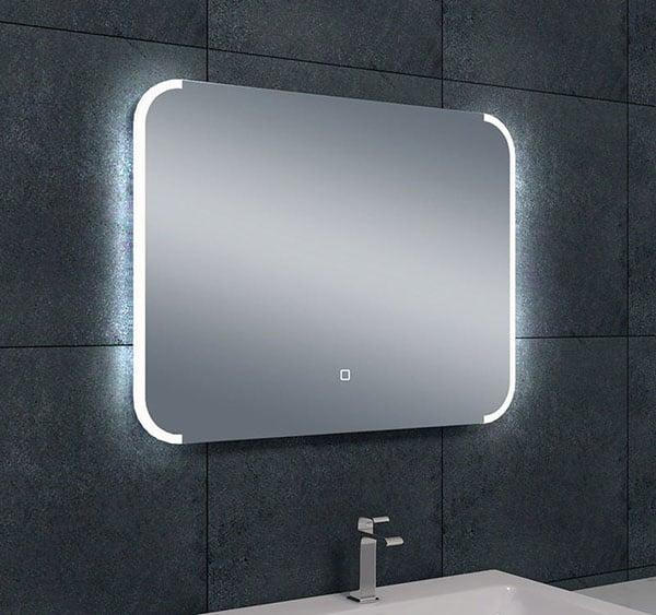 Wiesbaden Bracket dimbare LED condensvrije spiegel 80 x 60 cm