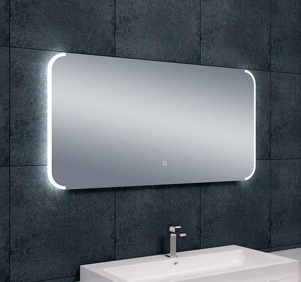 Wiesbaden Bracket dimbare LED condensvrije spiegel 120 x 60 cm
