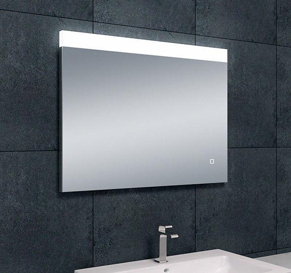 Wiesbaden Single dimbare LED condensvrije spiegel 80 x 60 cm