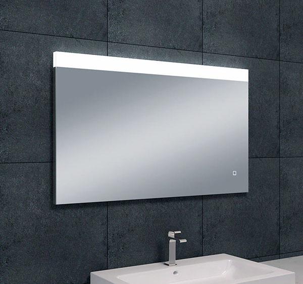Wiesbaden Single dimbare LED condensvrije spiegel 100 x 60 cm