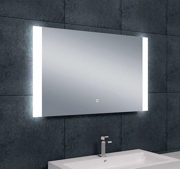 Wiesbaden Sunny dimbare LED condensvrije spiegel 100 x 60 cm