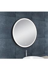 Wiesbaden Maro spiegel 60 cm rond + Led mat zwart