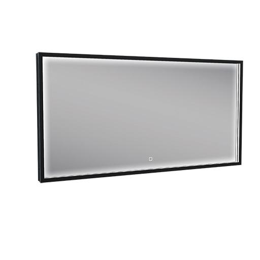Wiesbaden Rechthoekige condensvrije LED-spiegel 120 x 60 cm mat zwart