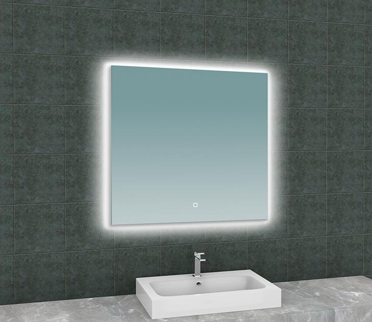 Wiesbaden Soul spiegel + Led rechthoek 800x800