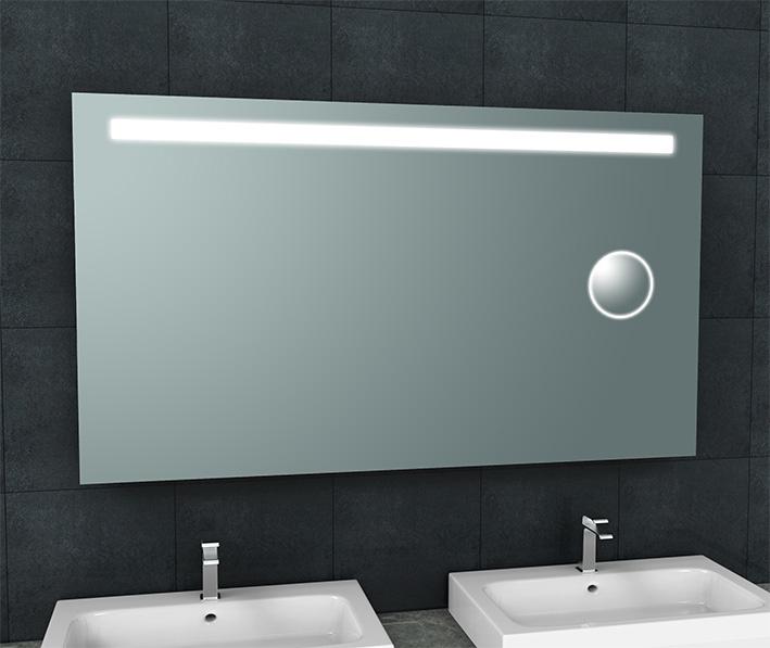 Wiesbaden Tigris spiegel met led verlichting + scheerspiegel  1400x800