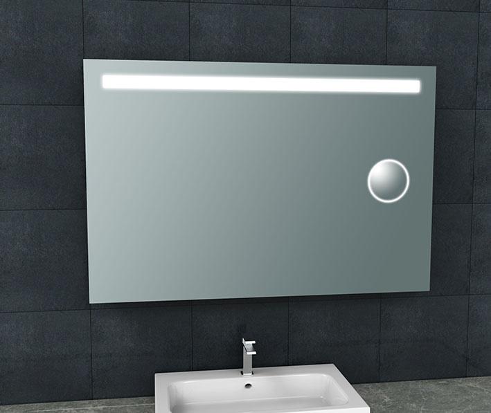 Wiesbaden Tigris spiegel met led verlichting + scheerspiegel  1200x800