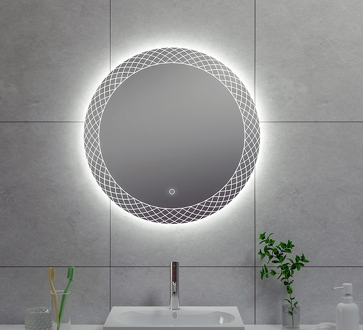 Wiesbaden Deco condensvrije led-spiegel 60 cm