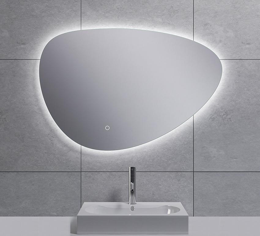 Wiesbaden Uovo condensvrije led- spiegel dimbaar 80 cm