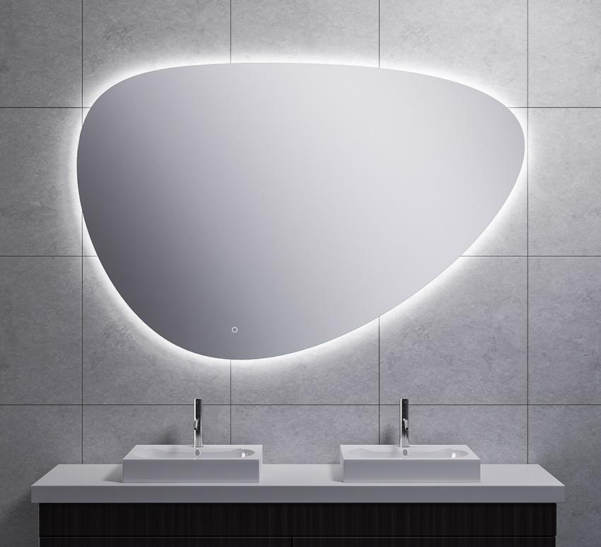 Wiesbaden Uovo condensvrije led- spiegel dimbaar 150 cm