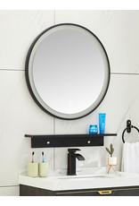 Wiesbaden Lista Nera spiegel rond met LED verlichting, dimbaar 80 cm mat zwart