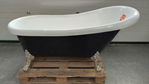 Linea Uno OP=OP Vrijstaand zwart ligbad Norman 170x75x72cm acryl €395