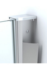 Wiesbaden inloopdouche + muurprofiel 1400x2000 8mm NANO glas