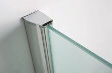 Wiesbaden inloopdouche + muurprofiel 700x2000 10mm NANO glas