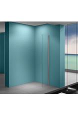 Wiesbaden Eco zijwand met muurprofiel 400 x 2000, 8 mm Nano