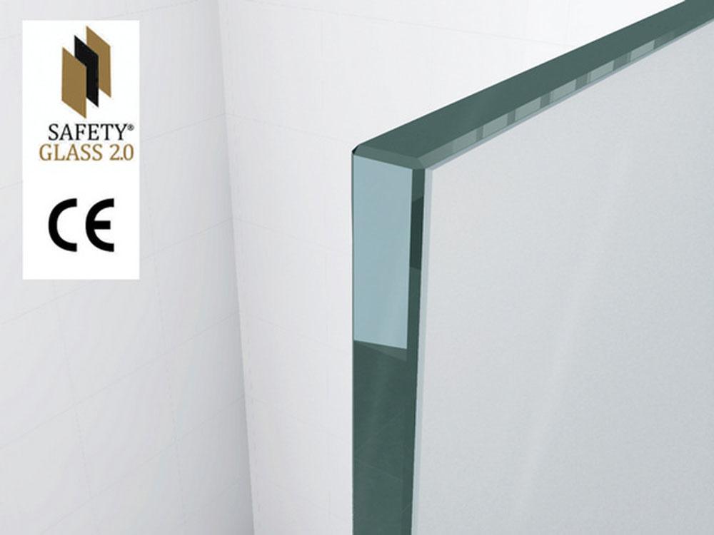 Wiesbaden inl.douche Safety Glass 10mm NANO 900x2000
