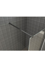 Wiesbaden Wiesbaden inloopdouche safety glass nano 120x200x1 cm helder/mat zwart