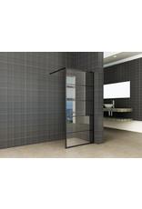 Wiesbaden Horizon inloopdouche mat zwart raster 80 cm 8 mm Nano