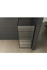 Wiesbaden Horizon inloopdouche mat zwart raster 110 cm 8 mm Nano