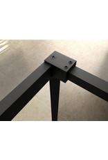 Wiesbaden Square inloopdouche 10mm NANO 800x2000 mat-zwart