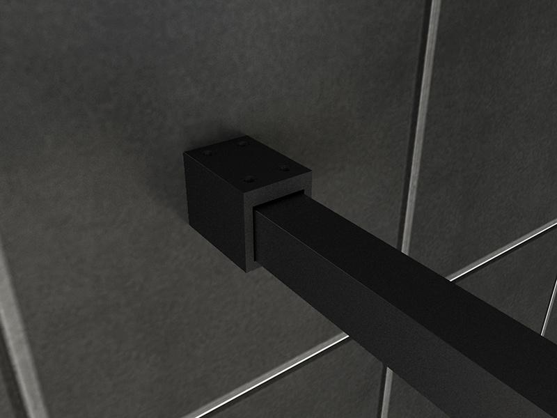 Wiesbaden Square inloopdouche 10mm NANO 1100x2000 mat-zwart