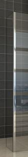 Wiesbaden Zijpaneel 40 x 200 cm met hoekprofiel voor inloopdouche chroom 10 mm NANO ged.matglas